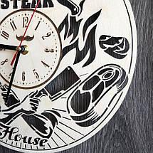 Тематичні настінні годинники з дерева Steak House CL-0299, фото 3