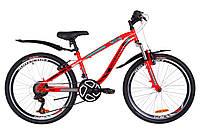 """Велосипед подростковый горный 24"""" Discovery FLINT AM Vbr 2019 (рама 13"""", красный)"""