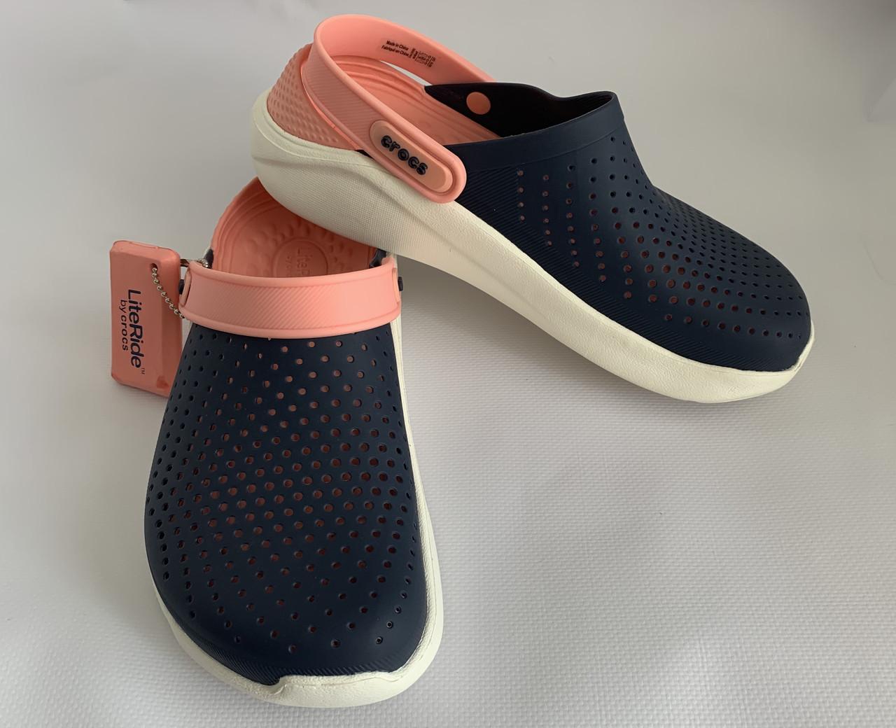 Кроксы женские Crocs LiteRide™ Clog синие 36 разм.