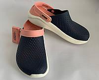 Кроксы женские Crocs LiteRide™ Clog синие 38 разм.