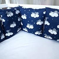 Бортики на 3 стороны кроватки