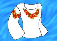 Заготовка  под вышиванку (Креп-сатин) под вышивку нитками или бисером