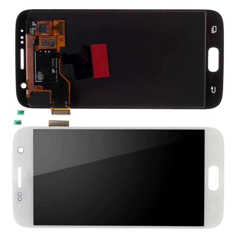 Дисплей модуль для Samsung G930F Galaxy S7 в зборі з тачскріном білий, Original, #GH97-18523D