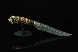 """Авторський колекційний ніж з бивнів мамонта """"Sincerity"""", дамаск, фото 3"""