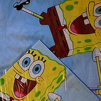 Комплект белья в кроватку для новорожденных Губка Боб