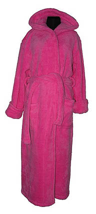 Халат Длинный Махровый цвет розовый, фото 2