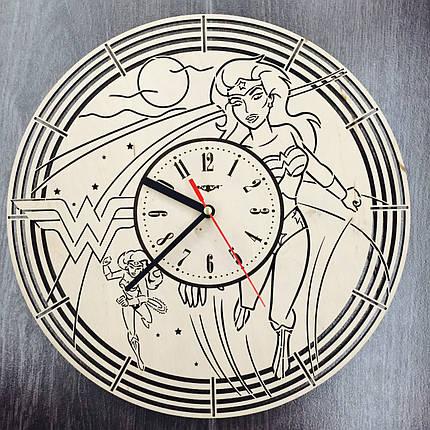 Настенные часы с дизайнерским циферблатом 7Arts Чудо-женщина CL-0085, фото 2