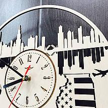 Дизайнерские часы на стену 7Arts Чикаго, Иллинойс CL-0117, фото 3