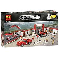 """Конструктор Bela 10947 (Аналог Lego Speed Champions 75889) """"Гараж Ferrari"""" 883 детали, фото 1"""