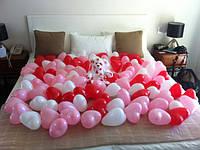 Шарики сердечки(100шт). Подарок любимым ко Дню Святого Валентина, Дню Влюбленных.