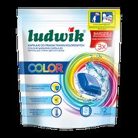 Ludwik гелевые капсулы для стирки цветных тканей 32 шт