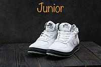Подростковые кеды кожаные зимние белые CrosSAV 57