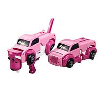 Игрушка трансформер машинка собака Розовый