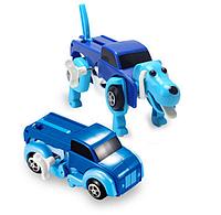 Игрушка трансформер машинка собака Синий