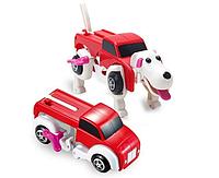 Игрушка трансформер машинка собака Красный