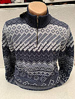 Стильный мужской теплый свитер