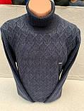 Мужской теплый свитер (вязка), фото 2
