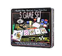 Набор карточных игр 5 в 1 оптом