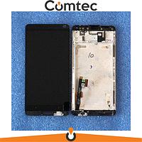 Дисплей для HTC 803n One Max с тачскрином (Модуль) черный, с передней панелью (рамкой) (без вставок цвета)