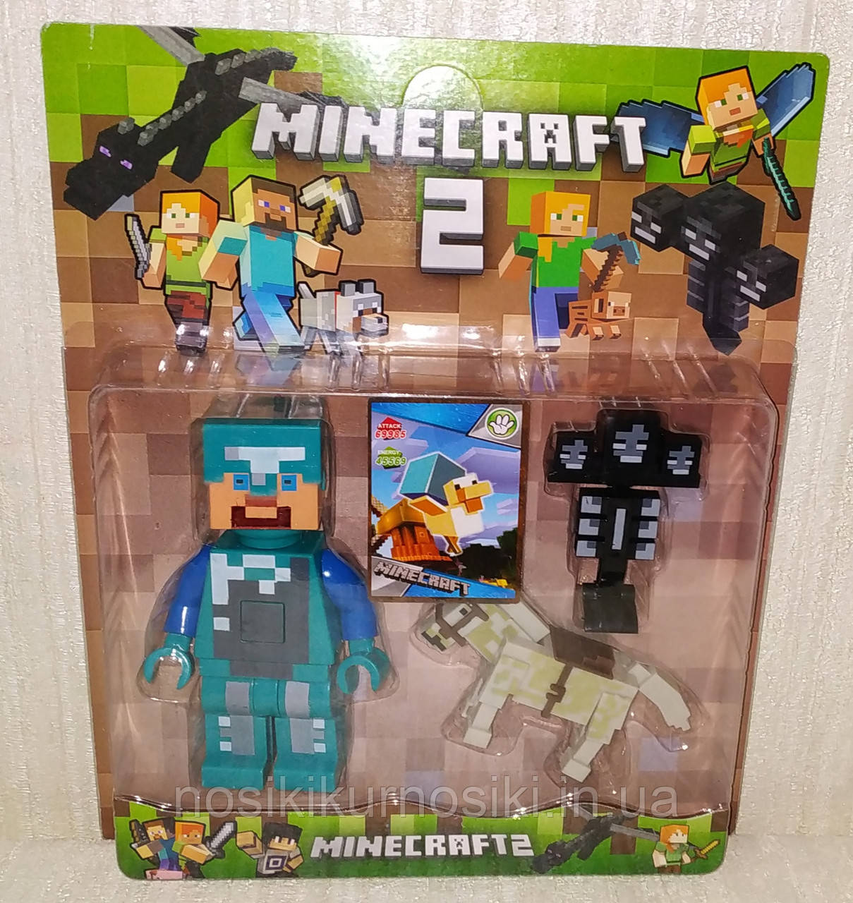 Фигурки Minecraft Герои Майнкрафт — 3 фигурки, свет, звук 18330-2.1