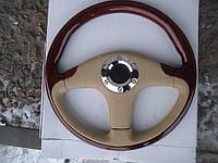 Руль деревянный Маркиз №066 (дерево+кожа) с витрины., фото 1