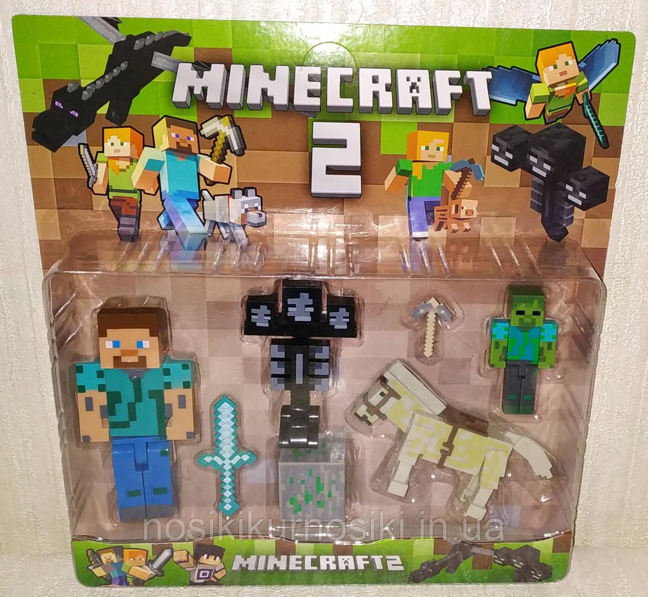 Фигурки Minecraft Герои Майнкрафт — 4 фигурки, свет, 18331-1.2 Брак