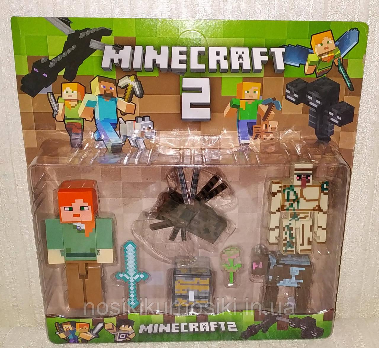 Фігурки Minecraft Герої Майнкрафт — 4 фігурки, світло, 18331-1.3