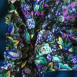 Диво дивное 1798-12, павлопосадский платок (шаль) из уплотненной шерсти с шелковой вязанной бахромой, фото 10