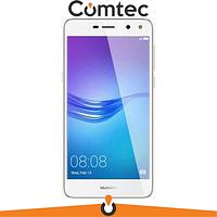 Дисплей для Huawei Y5 2017 (MYA-L02/MYA-L22/MYA-U29)/Y5 III 2017 с тачскрином (Модуль) белый, с передней панелью (рамкой) золотистого цвета