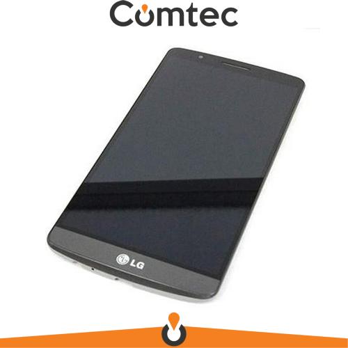 Дисплей для LG D855 G3 с тачскрином (Модуль) серый, с передней панелью (рамкой), оригинал