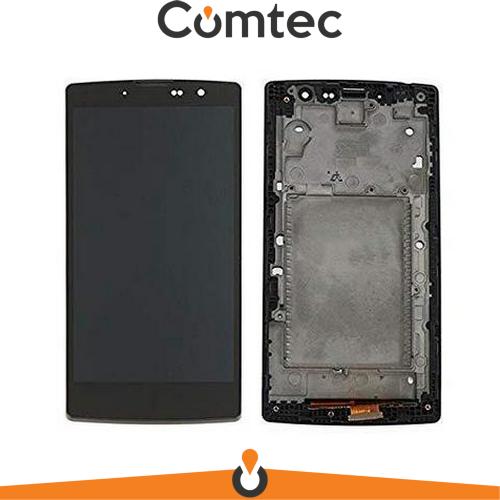 Дисплей для LG H522Y G4c с тачскрином (Модуль) черный, с передней панелью (рамкой), оригинал