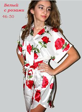 Модный шелковый халат 46-50