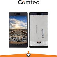 Дисплей для Lenovo Tab 3 TB3-730X/TB-7304i Tab 7 с тачскрином (Модуль) черный, оригинал, #TV070WSM-THO