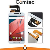 Дисплей для Motorola XT1540 Moto G3 (3rd Gen)/XT1541/XT1544/XT1548/XT1550 с тачскрином (Модуль) белый