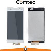 Дисплей для Sony D2502 Xperia C3 Dual Sim/D2533 с тачскрином (Модуль) белый