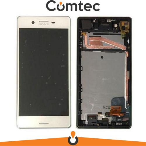 Дисплей для Sony F8131 Xperia X Performance/F8132 с тачскрином (Модуль) белый, с передней панелью (рамкой), оригинал