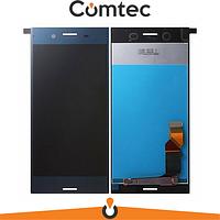 Дисплей для Sony F8332 Xperia XZ с тачскрином (Модуль) синий, Forest Blue, оригинал