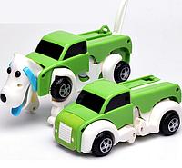 Игрушка трансформер машинка собака зеленый