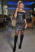 Красивое модное нарядное платье на Новый год цвет: черный с блеском, размер: 36, 38, 40