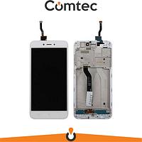 Дисплей для Xiaomi Redmi 5A/Redmi Go с тачскрином (Модуль) белый, с передней панелью (рамкой)