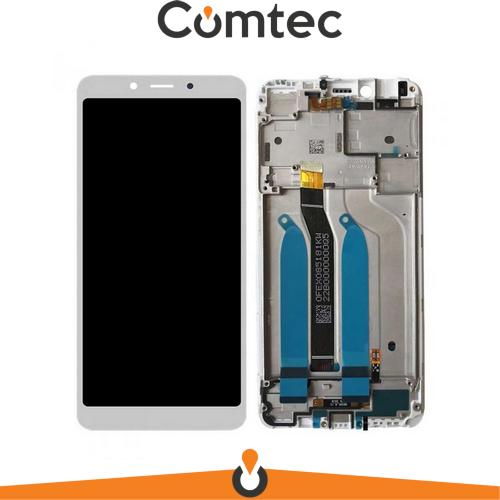 Дисплей для Xiaomi Redmi 6/Redmi 6A с тачскрином (Модуль) белый, с передней панелью (рамкой)