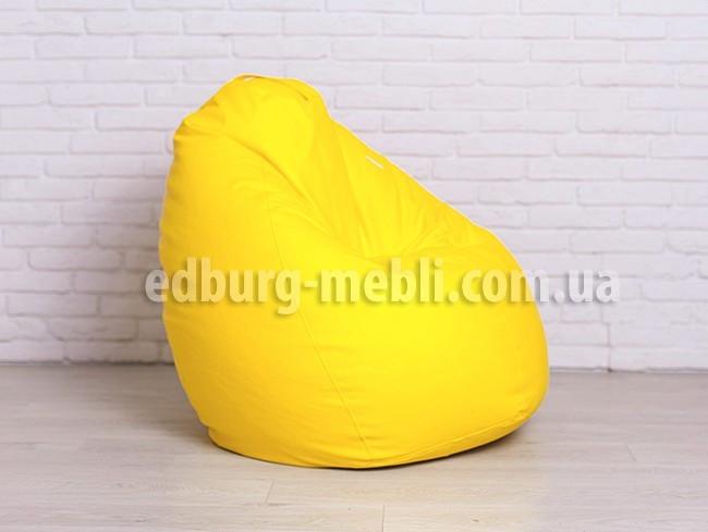 Кресло мешок груша большая    желтый кожзам Zeus