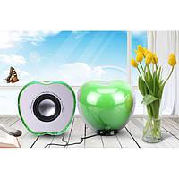Колонки Яблоко для ноутбука и компьютера телефона Зелёные  SmartLife