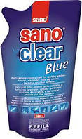 Sano Clear Blue средство для мытья стеклянных поверхностей 750 мл экопак