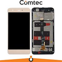 Дисплей для Huawei Nova (CAN-L01/CAN-L11) с тачскрином (Модуль) золотистый, без микросхемы, с передней панелью (рамкой), #1540340171 FHD-A