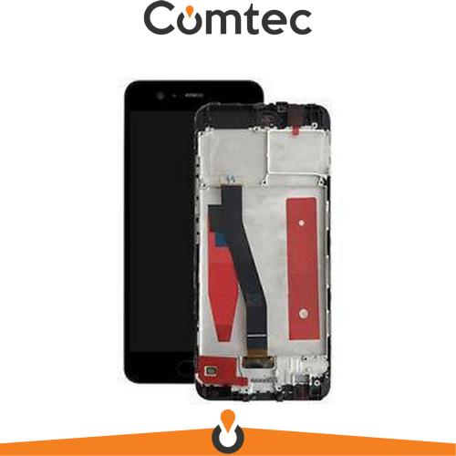Дисплей для Huawei P10 (VTR-L09/VTR-L29) с тачскрином (Модуль) черный, с передней панелью (рамкой)
