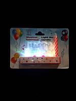 Свечи Happy Birthday светящиеся,музыкальные(розовые)