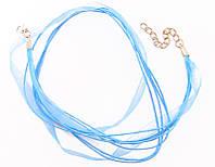 Лента из органзы голубой(2 шт) 77_95