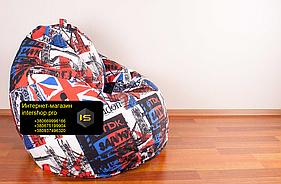 Крісло мішок груша з малюнком Британія