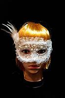 Венецианская маска с Жемчугом (белая)